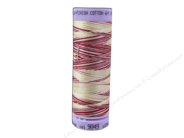 Mettler Silk Finish Cotton Thread 50 wt. 109 yd. #9849 Antique Floral