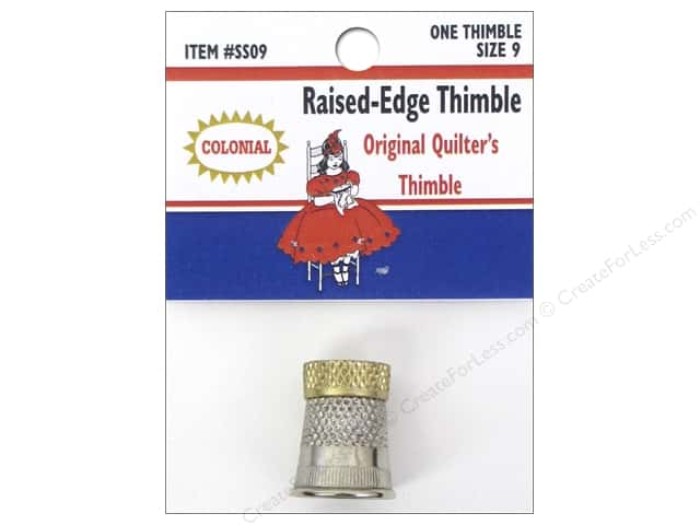 Colonial Needle Raised Edge Thimble Size 9