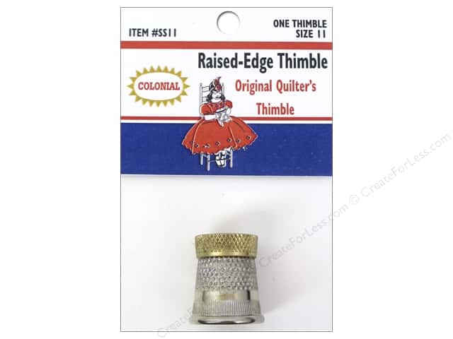 Colonial Needle Raised Edge Thimble Size 11