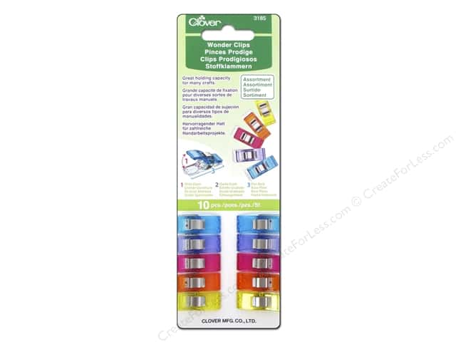 Clover Wonder Clips 10 pc. Assorted
