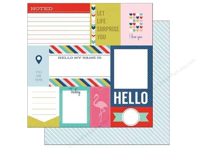 Echo Park 12 x 12 in. Paper Anything Goes Collection Journaling Cards (25 sheets)