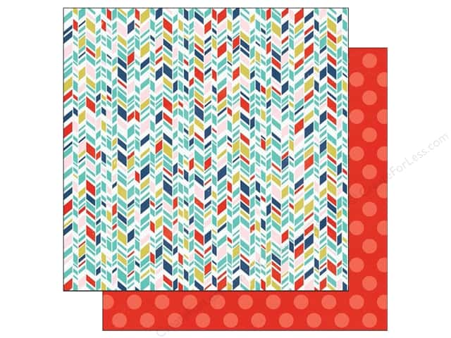 Echo Park 12 x 12 in. Paper Anything Goes Collection Arrow Stripes (25 sheets)