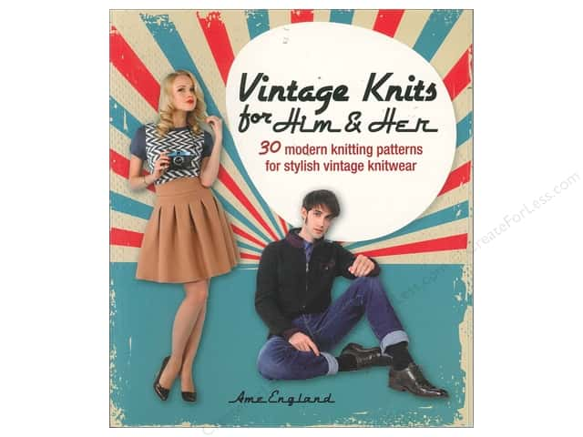 David & Charles Vintage Knits For Him & Her Book