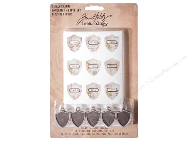 Tim Holtz Idea-ology Shield Charms