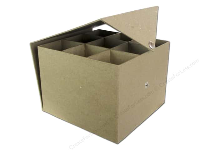 PA Paper Mache Keepsake Box with Compartments 6 1/2 in.