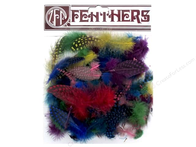 Zucker Feather Guinea Plumage Feathers .10 oz. Classic Mix