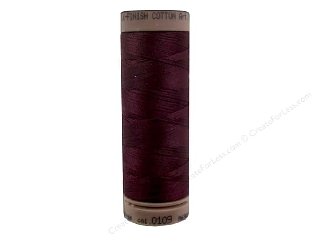 Mettler Silk Finish Cotton Thread 40 wt. 164 yd. #0109 Bordeaux