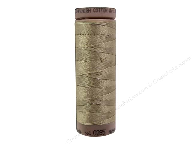 Mettler Silk Finish Cotton Thread 40 wt. 164 yd. #0285 Caramel Cream