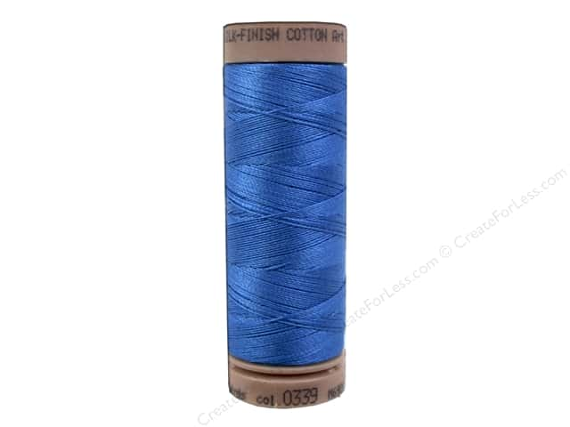 Mettler Silk Finish Cotton Thread 40 wt. 164 yd. #0339 Mediterranean Blue