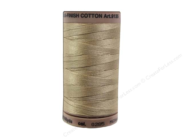 Mettler Silk Finish Cotton Thread 40 wt. 500 yd. #0285 Caramel Cream