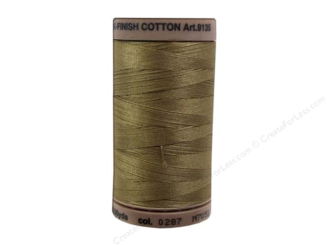Mettler Silk Finish Cotton Thread 40 wt. 500 yd. #0287 Dark Tan