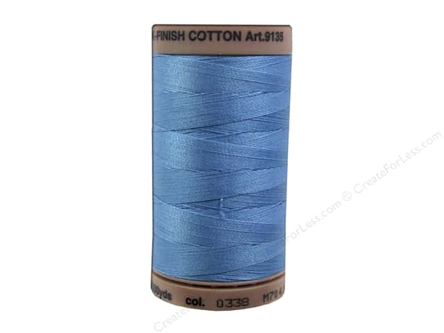 Mettler Silk Finish Cotton Thread 40 wt. 500 yd. #0338 Reef Blue