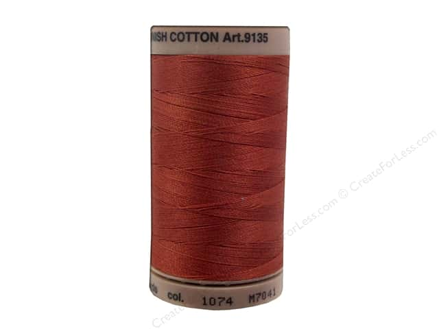 Mettler Silk Finish Cotton Thread 40 wt. 500 yd. #1074 Brick