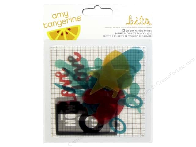 American Crafts Die Cut Acrylic Shapes Amy Tangerine Stitched