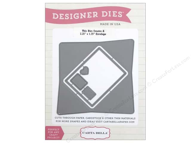 Carta Bella Designer Dies Words of Love Envelope