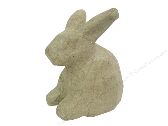 PA Paper Mache Mini Sitting Rabbit 4 1/4 in.