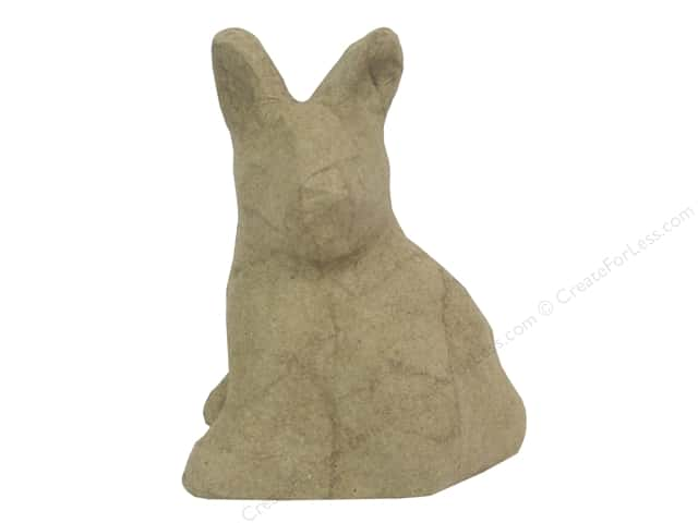 Paper Mache Mini Sitting Rabbit Head Turned by Craft Pedlars
