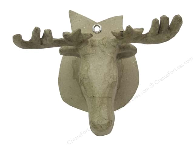 Paper Mache Wall Decor Deer Head by Craft Pedlars