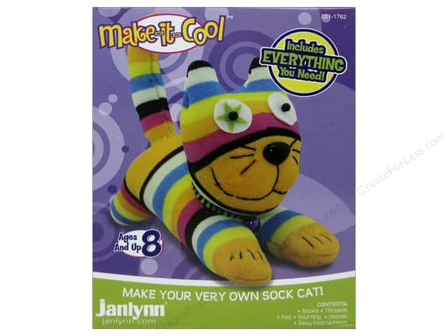 Janlynn Kit Make It Cool Sock Animal Claire The Cat