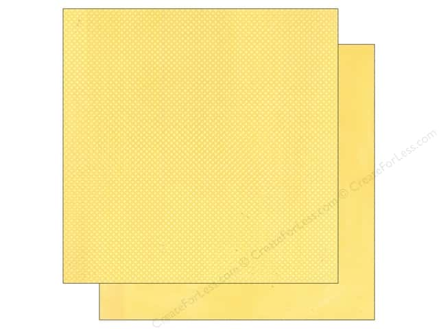 Bo Bunny 12 x 12 in. Paper Double Dot Mellow Yellow
