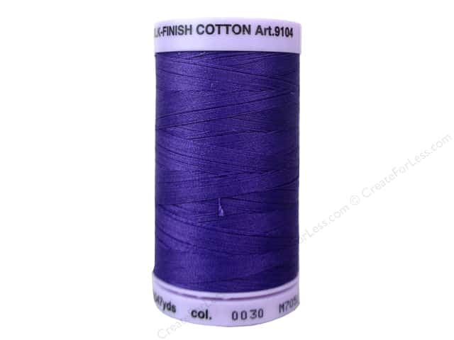 Mettler Silk Finish Cotton Thread 50 wt. 547 yd. #0030 Iris Blue