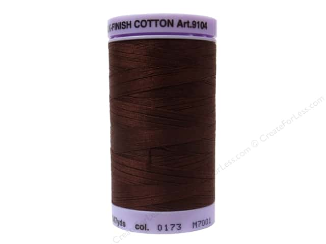 Mettler Silk Finish Cotton Thread 50 wt. 547 yd. #0173 Friar Brown