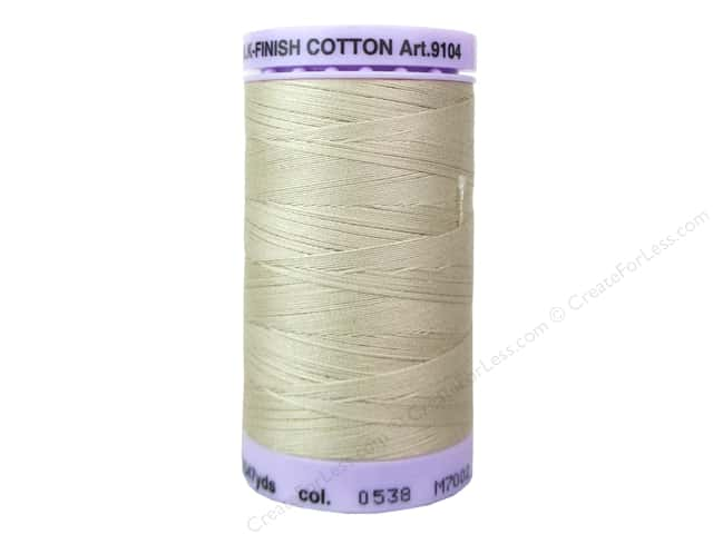 Mettler Silk Finish Cotton Thread 50 wt. 547 yd. #0538 Straw