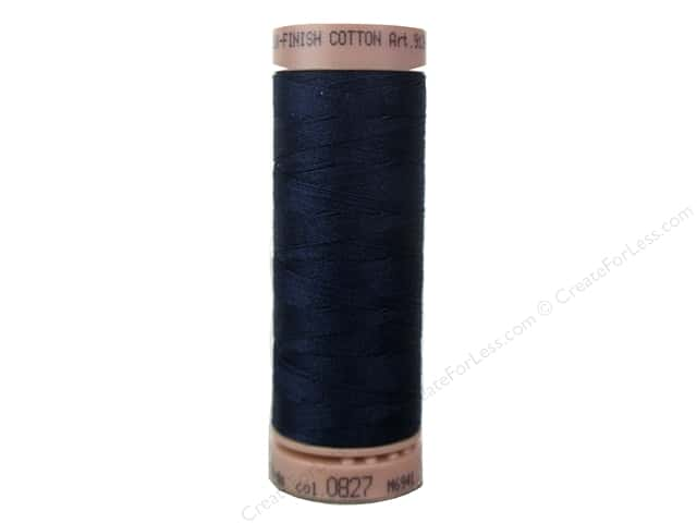 Mettler Silk Finish Cotton Thread 40 wt. 164 yd. #0827 Dark Blue