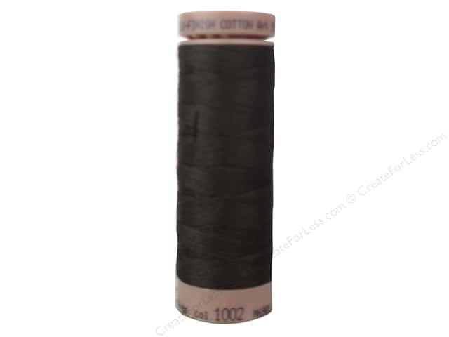 Mettler Silk Finish Cotton Thread 40 wt. 164 yd. #1002 Very Dark Brown