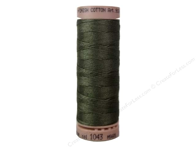 Mettler Silk Finish Cotton Thread 40 wt. 164 yd. #1043 Olive