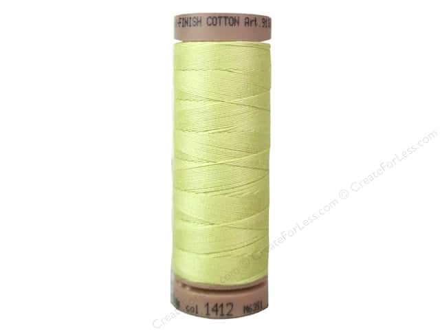 Mettler Silk Finish Cotton Thread 40 wt. 164 yd. #1412 Lemon Frost