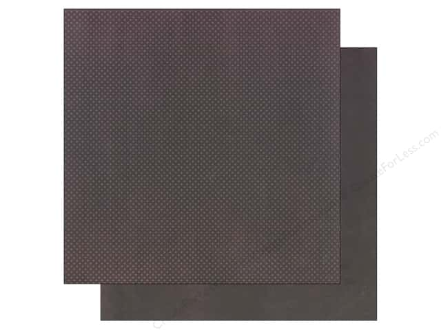 Bo Bunny 12 x 12 in. Paper Double Dot Plum (25 sheets)