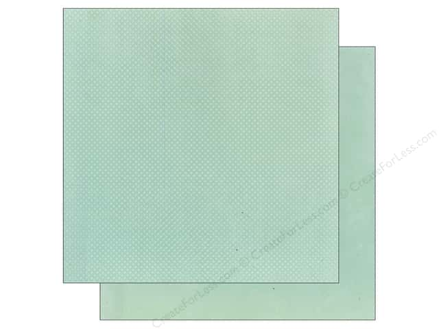 Bo Bunny 12 x 12 in. Paper Double Dot Collection Island Mist (25 sheets)