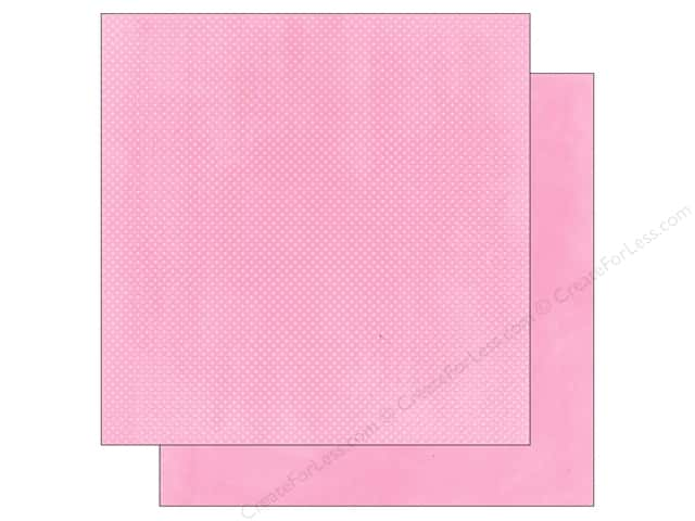 Bo Bunny 12 x 12 in. Paper Double Dot Passion Fruit (25 sheets)