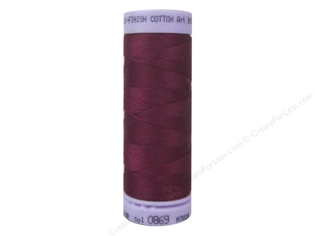 Mettler Silk Finish Cotton Thread 50 wt. 164 yd. #0869 Pomegranate