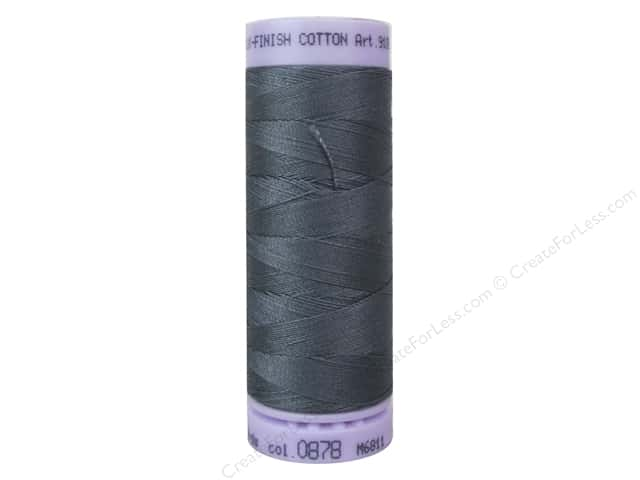 Mettler Silk Finish Cotton Thread 50 wt. 164 yd. #0878 Mousy Gray