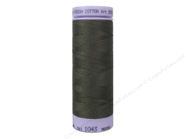 Mettler Silk Finish Cotton Thread 50 wt. 164 yd. #1043 Olive