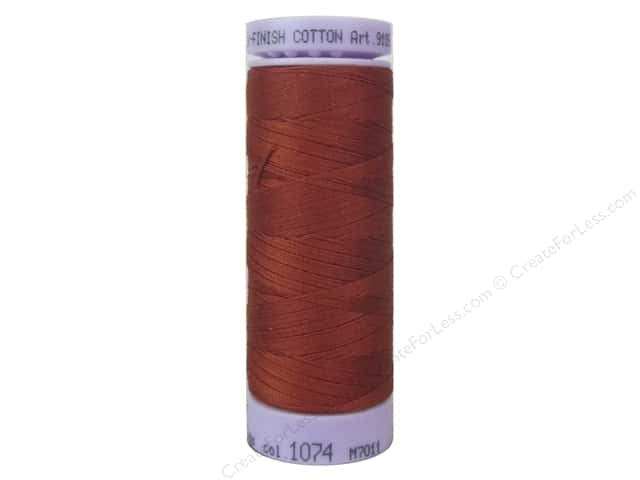 Mettler Silk Finish Cotton Thread 50 wt. 164 yd. #1074 Brick