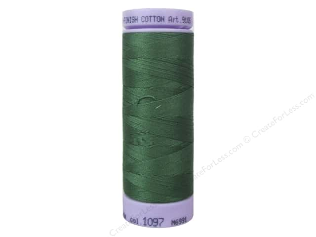 Mettler Silk Finish Cotton Thread 50 wt. 164 yd. #1097 Bright Green