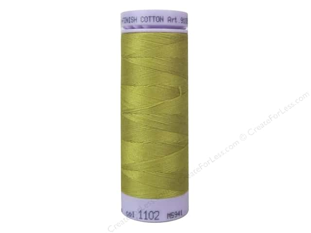 Mettler Silk Finish Cotton Thread 50 wt. 164 yd. #1102 Ochre