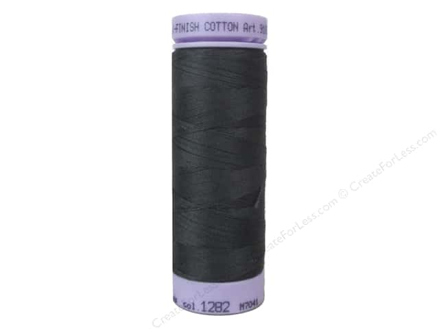 Mettler Silk Finish Cotton Thread 50 wt. 164 yd. #1282 Charcoal