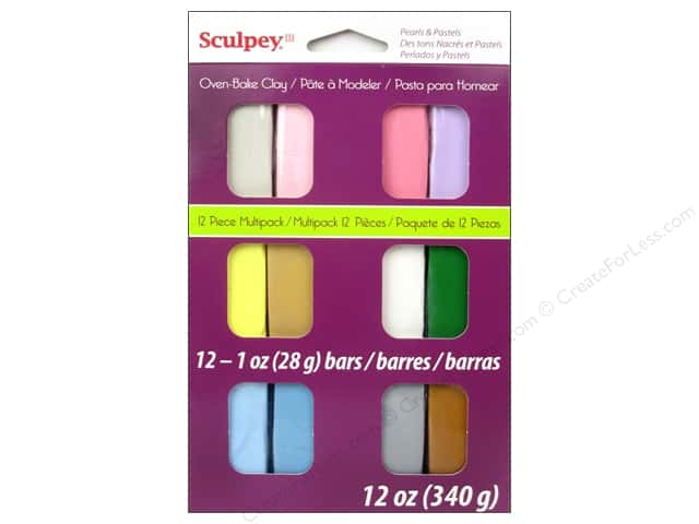 Sculpey III Clay Multipack 12 pc. Pearls & Pastels