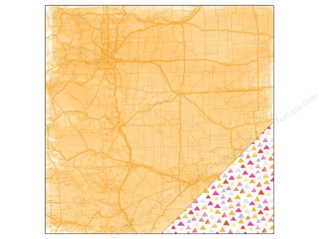 American Crafts 12 x 12 in. Paper Amy Tangerine Rise & Shine Rachel (25 sheets)