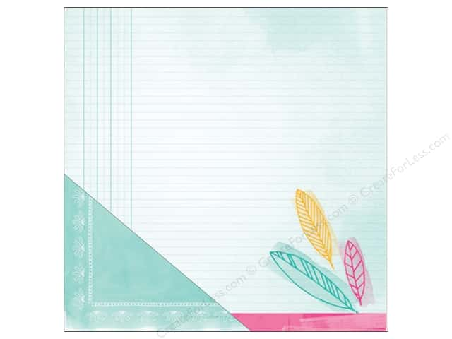 American Crafts 12 x 12 in. Paper Amy Tangerine Rise & Shine Nicole (25 sheets)