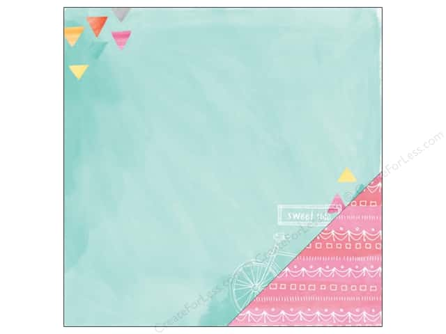 American Crafts 12 x 12 in. Paper Amy Tangerine Rise & Shine Ava (25 sheets)