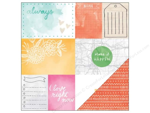 American Crafts 12 x 12 in. Paper Amy Tangerine Rise & Shine Emery (25 sheets)