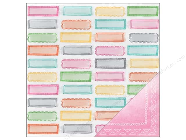 American Crafts 12 x 12 in. Paper Amy Tangerine Rise & Shine Riley (25 sheets)