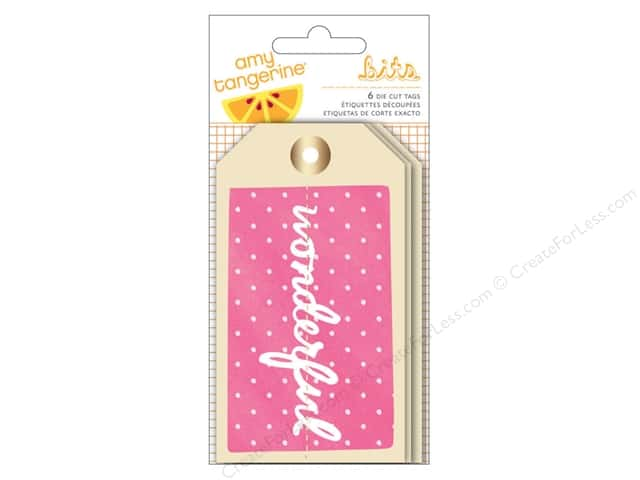 American Crafts Tags Amy Tangerine Rise & Shine with Foil Accents