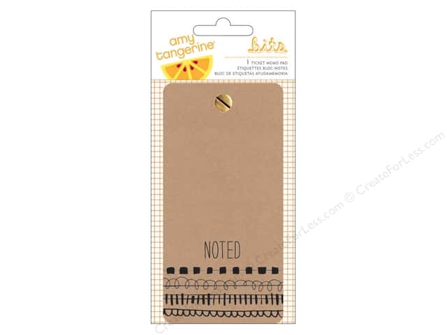 American Crafts Memo Pad Amy Tangerine Rise & Shine Ticket