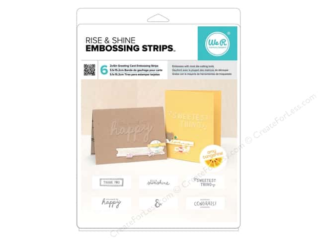 American Crafts Embossing Strips 6 pc. Amy Tangerine Rise & Shine Phrases